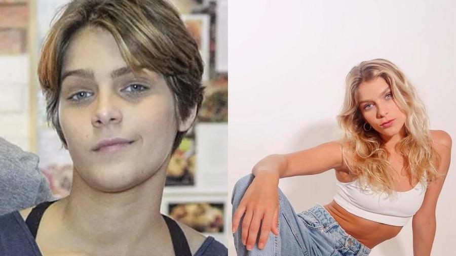"""Isabella Santoni em """"Malhação Sonhos"""" e atualmente - Renato Rocha Miranda / TV Globo - Reprodução / Instagram"""