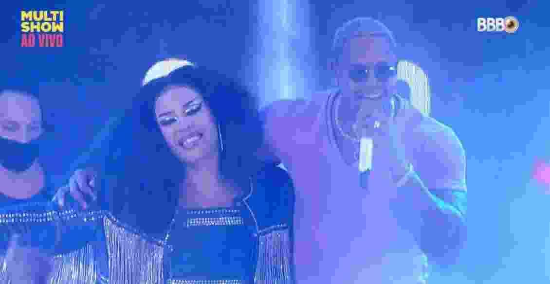 BBB 21: Glória Groove e Léo Santana se abraçam - Reprodução/ Globoplay