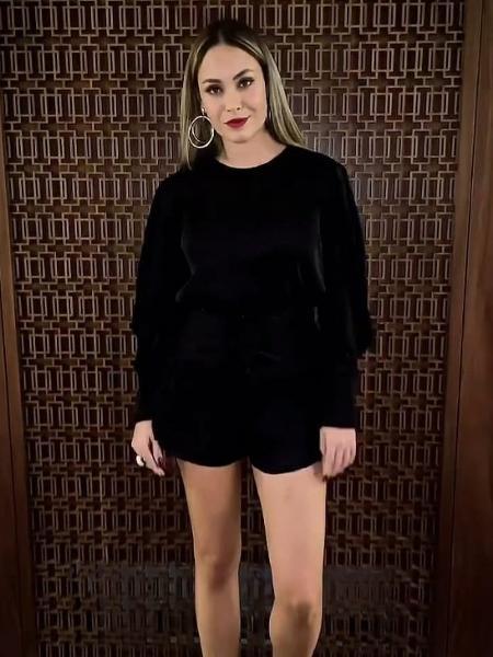 BBB 21: Sarah mostra look para a final do reality - Reprodução/Globoplay