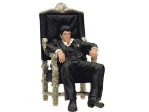 """SD toys Movie Icons Scarface: Tony Montana Throne 7"""" Figure - Divulgação - Divulgação"""