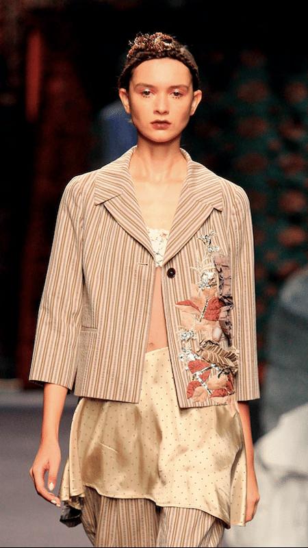 Criação do estilista Antonio Marras desfilada na Semana de Moda de Milão - Reprodução/Facebook
