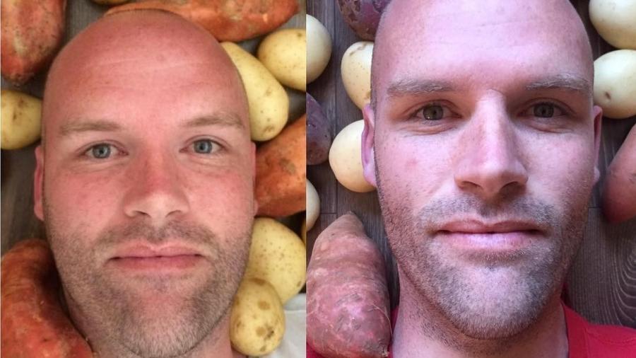 Durante 12 meses, Andrew comeu de 3kg a 4kg por dia de batata - Reproduēćo/Instagram/@spudfit