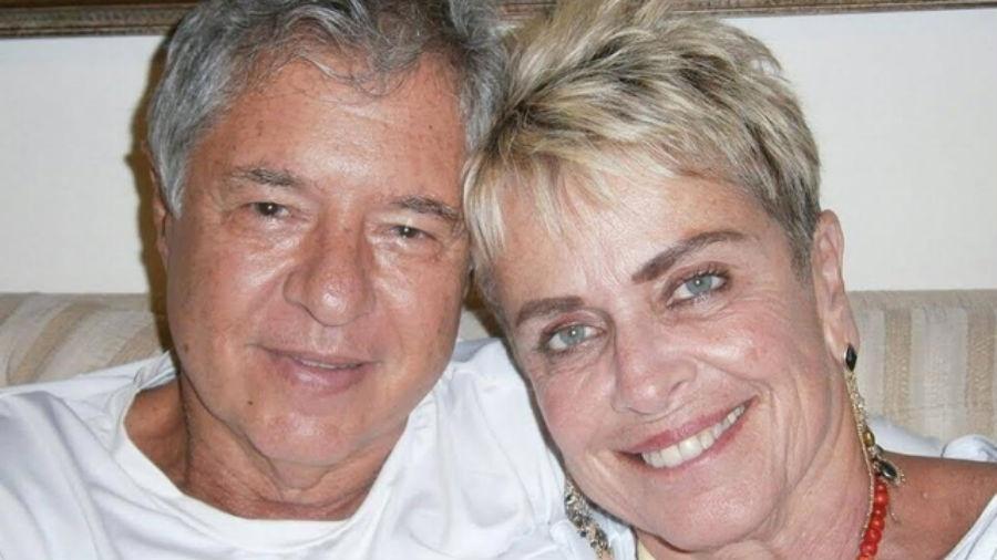 Leila Cordeiro com seu atual namorado, Wilson Pariz