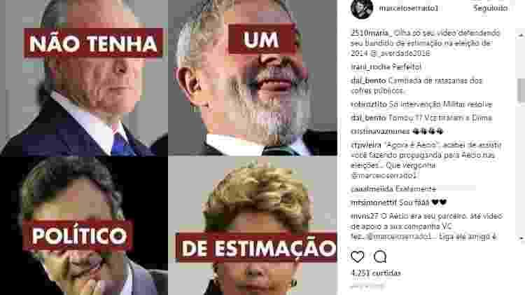 Reprodução/Instagram/marceloserrado1