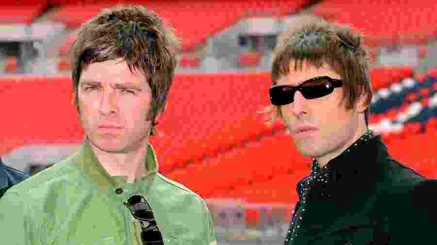 Or irmãos Noel Gallagher e Liam Gallagher: treta familiar e musical - Samir Hussein/Getty Images