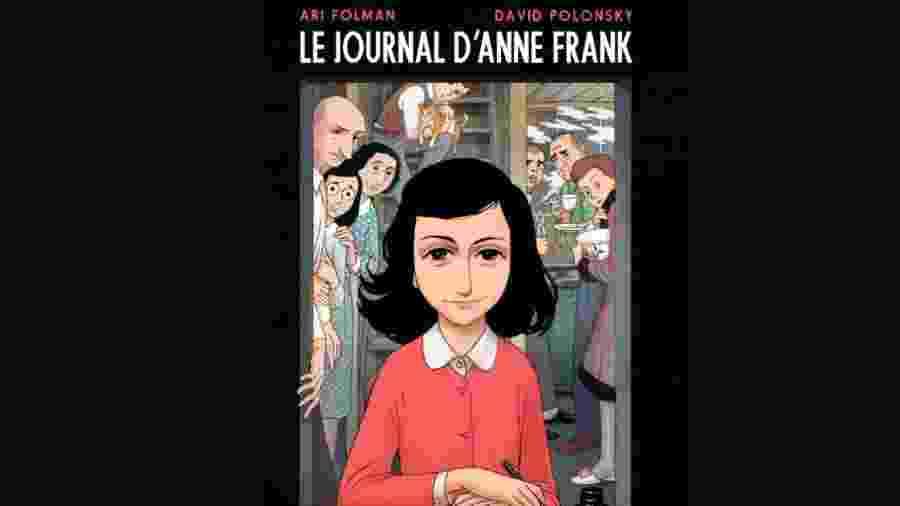 """Capa da versão em HQ de """"Diário de Anne Frank"""" - Reprodução"""