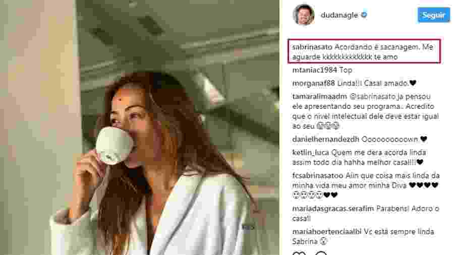 Duda Nagle mostra Sabrina Sato sem maquiagem e apresentadora brinca - Reprodução/Instagram/dudanagle