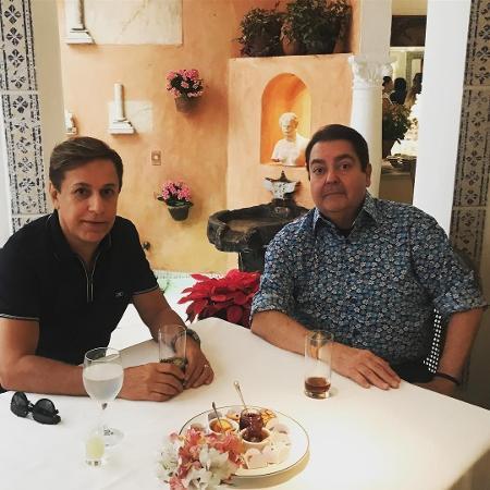 Tom Cavalcante e Fausto Silva - Reprodução/Instagram