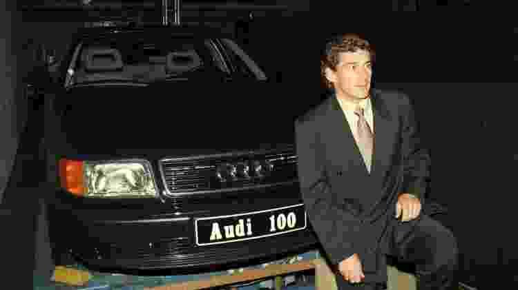Ayrton Senna na festa de lançamento da Audi - Toni Pires/Folhapress - Toni Pires/Folhapress