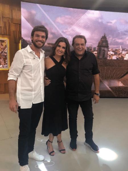 Emilio Dantas, Fátima Bernardes e Dennis Carvalho - Reprodução/Instagram