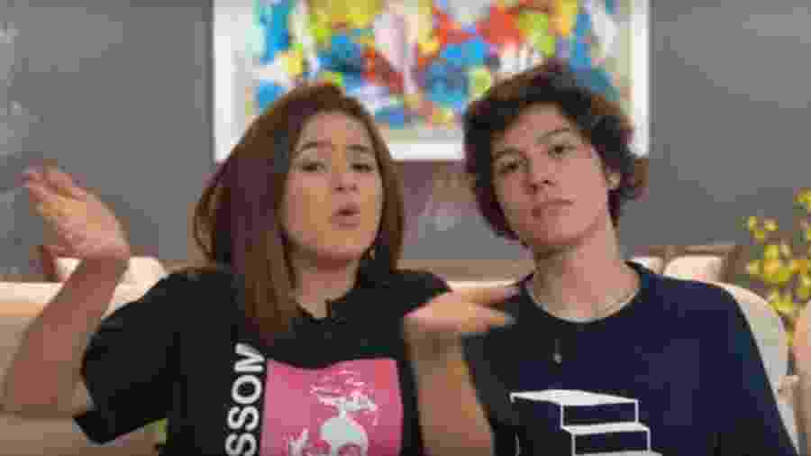 Maisa e Nicholas Arashiro em vídeo publicado no canal dela no Youtube - Reprodução/Youtube