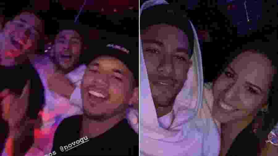 Neymar com amigos no show de Thiaguinho - Reprodução/Instagram