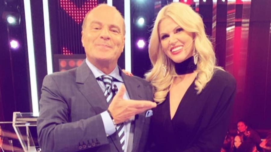 88683168d Val Marchiori alfineta Luciana Gimenez em programa do ex na Rede TV ...