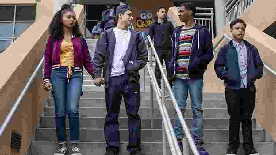 """O quarteto principal de """"On My Block"""", da Netflix - Divulgação/IMDb"""