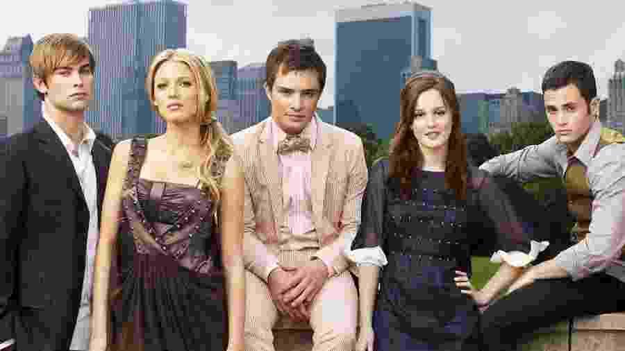 Os cinco protagonistas de Gossip Girl - Divulgação