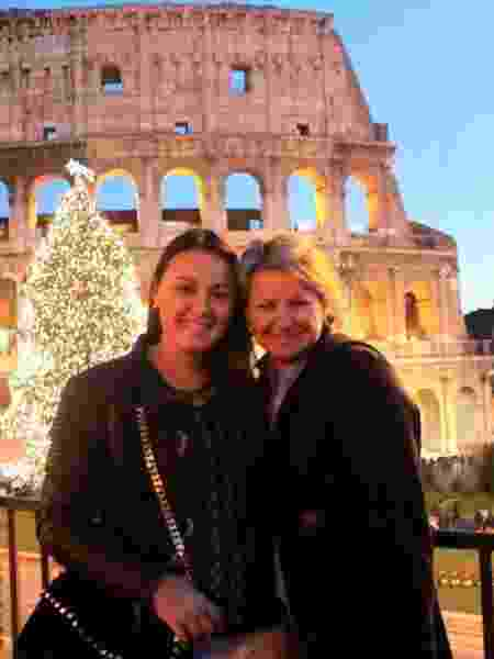 Luiza e a mãe na Itália - Arquivo pessoal - Arquivo pessoal
