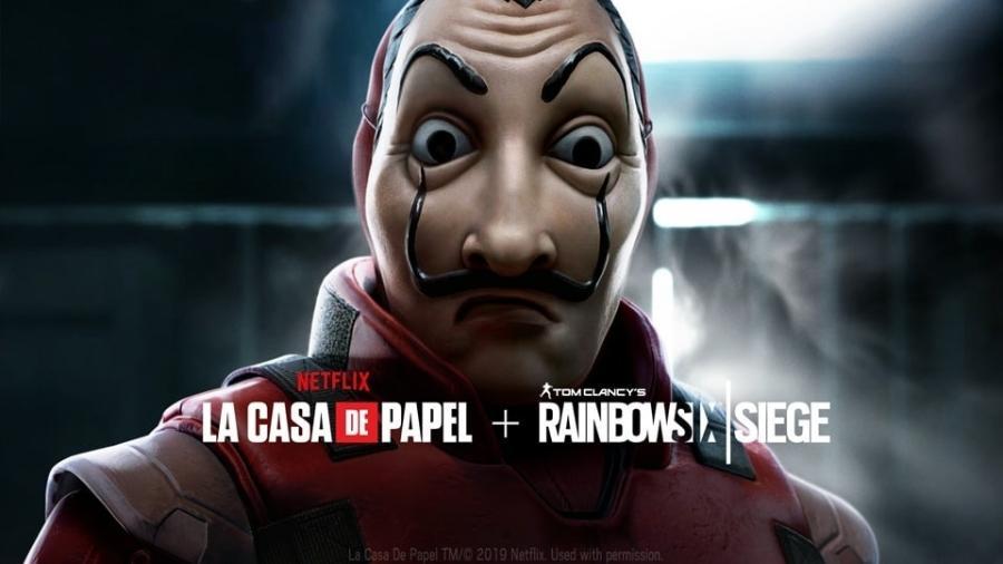 Rainbow Six Siege fez uma parceria com a Netflix para lançar um evento baseado na série La Casa de Papel - Divulgação/Ubisoft