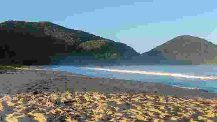 Paisagem de cartão-postal na praia Vermelha do Norte - Getty Images - Getty Images