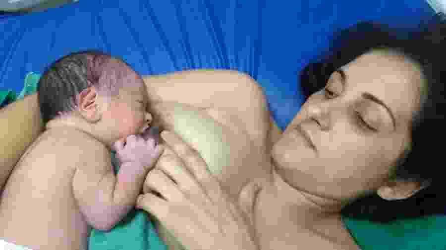 """""""Maior doadora de leite"""", Michele Rafaela Maximino tem quarto filho e quer ajudar bebês prematuros - Arquivo pessoal"""