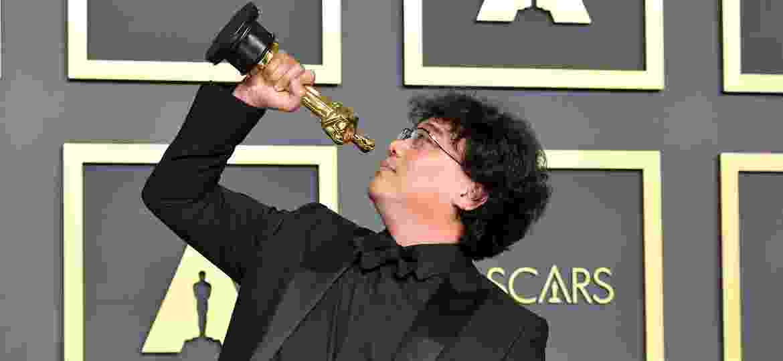 """O diretor sul-coreano Bong Joon Ho, o grande vencedor do Oscar 2020 com o filme """"Parasita"""" - Getty Images"""