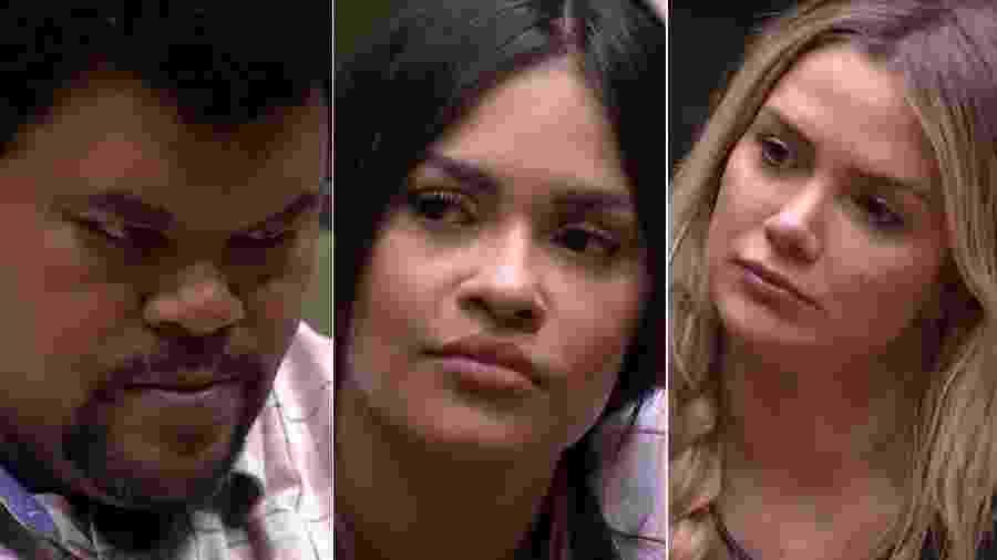 Babu, Flayslane e Marcela estão no 12º paredão do BBB 20 - Reprodução/TV Globo