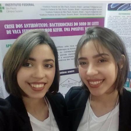 As irmãs Samara e Sophia Rossi, autoras do projeto que venceu prêmio da Febrace - Arquivo Pessoal