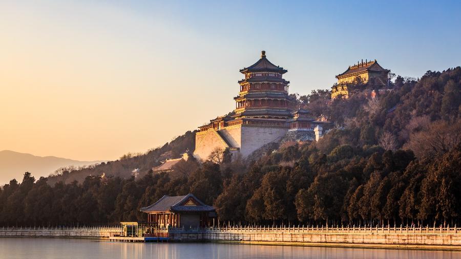 O Yiheyuan, também conhecido como Palácio de Verão, palácio localizado em Pequim, China - Getty Images/iStockphoto