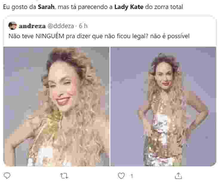 Sarah Andrade vira meme - Reprodução/Twitter - Reprodução/Twitter