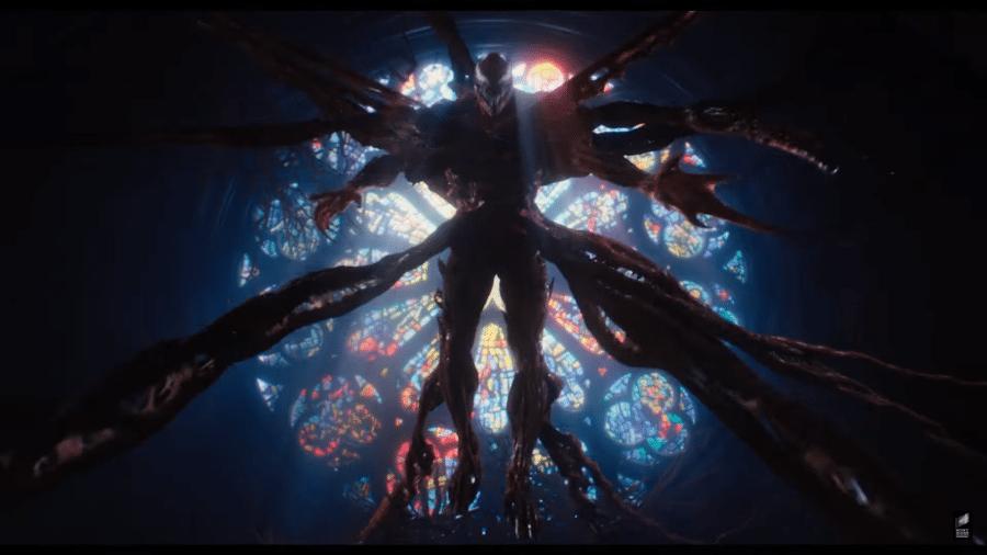 """O vilão Carnificina em """"Venom: Tempo de Carnificina"""" - Reprodução/YouTube"""