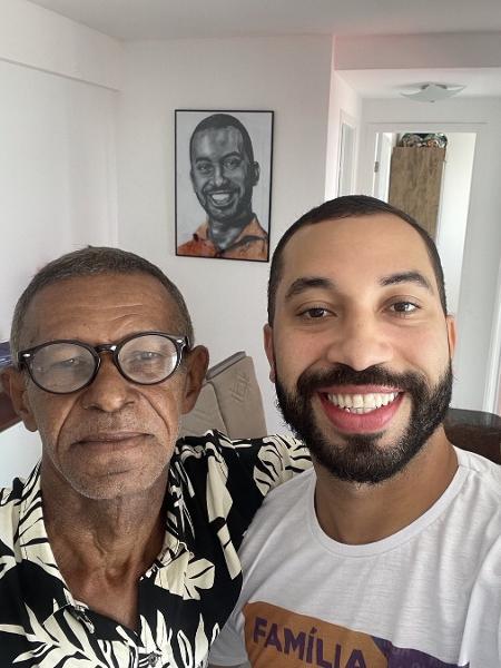 Gil do Vigor mostra foto de reencontro com o pai - Reprodução/Instagram