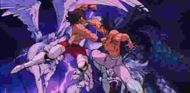 Uma das lutas mais importantes do original, Seiya x Shiryu passa voando na nova versão - Reprodução