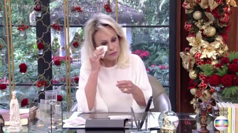 """Ana Maria Braga se emociona no """"Mais Você"""" - Reprodução/TV Globo"""
