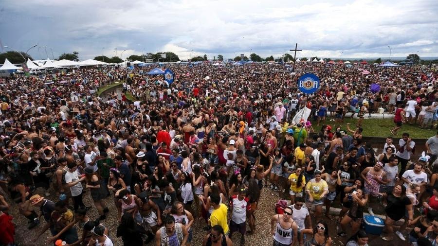 Foliões no carnaval de Brasília - Agência Brasil