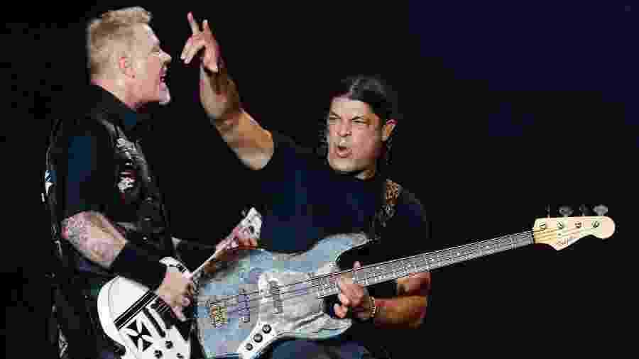 Banda Metallica em show no Lollapalooza - Alexandre Schneider/UOL