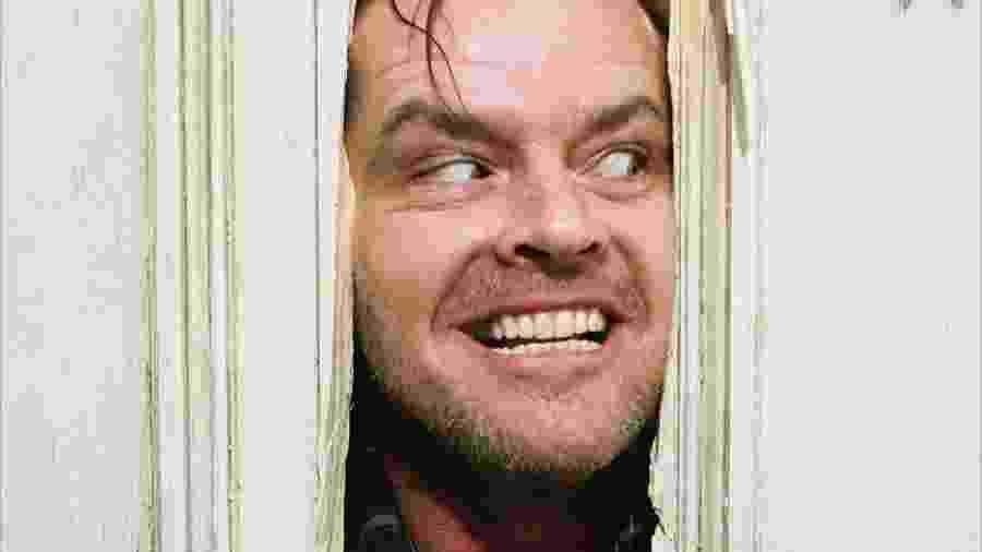 """Jack Nicholson em cena de """"O Iluminado"""" - Reprodução"""