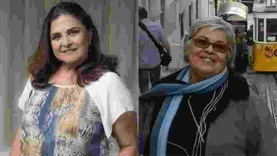 """Elizângela interpreta Aurora, a mãe da Bibi (Juliana Paes) em """"A Força do Querer"""". A professora Fátima, mãe de Fabiana Escobar, a Bibi Perigosa da vida real, se emociona e se identifica com as cenas da personagem com  o neto  - Estevam Avellar/Globo e Arquivo Pessoal"""
