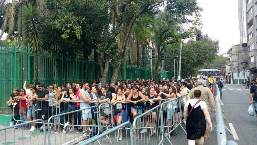 Público chega ao Allianz Parque para o segundo dia de São Paulo Trip - Renata Nogueira/UOL