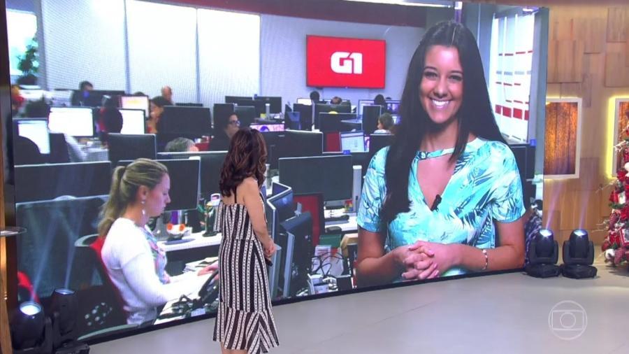 """Sobrinha de William Bonner, Luiza Tenente estreia no """"Encontro"""" e recebe boas-vindas de Fátima Bernardes - Reprodução/TV Globo"""