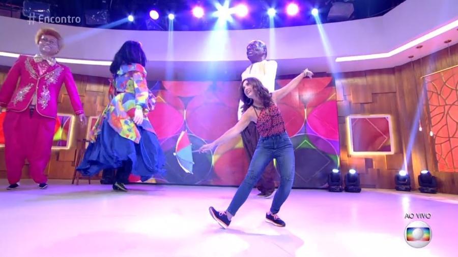 """Fátima Bernardes dança frevo no """"Encontro"""" - Reprodução/Globo"""