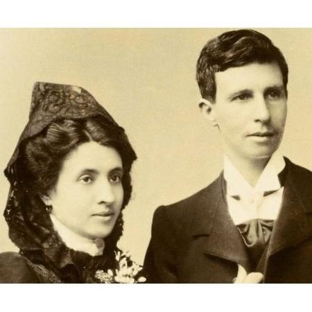 Marcela Gracia Ibeas e Elisa Sánchez Loriga, em foto de casamento - José Sellier