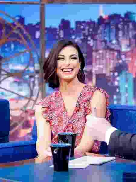 Morena Baccarin em entrevista ao The Noite com Danilo Gentili   - Gabriel Cardoso/SBT/Divulgação