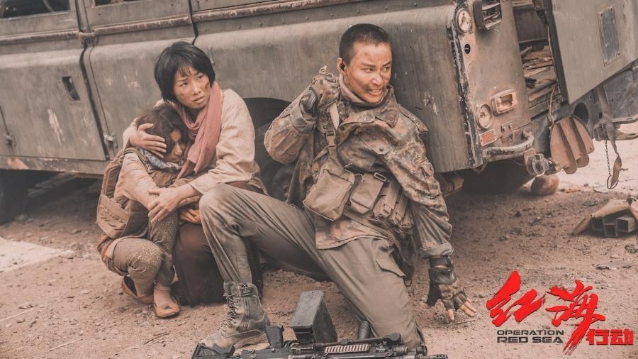 """Cena do filme chinês """"Operação Mar Vermelho"""" - Divulgação"""