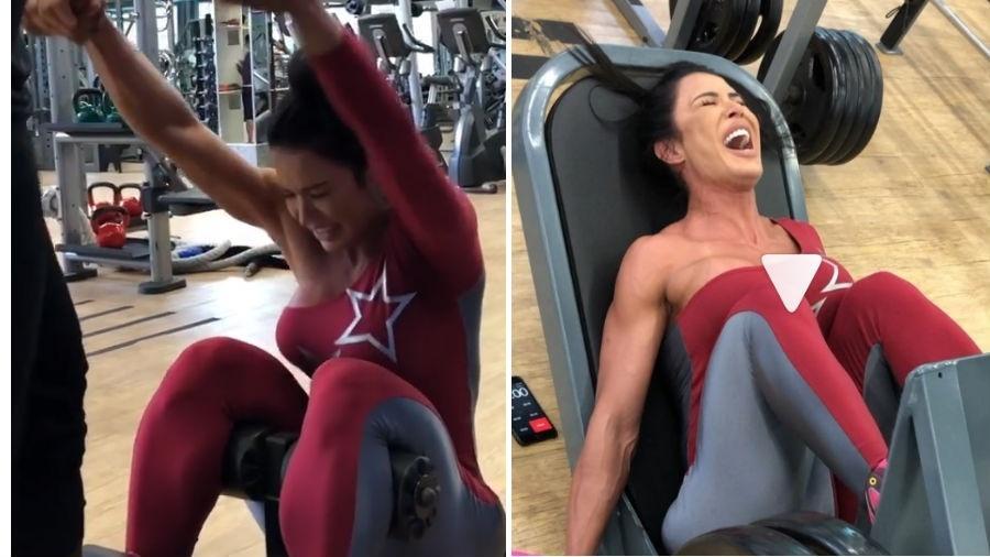 Gracyanne Barbosa sofre durante treino - Reprodução/Instagram