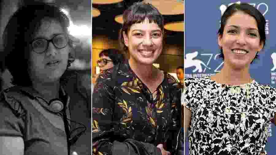 As diretoras Juliana Rojas, Gabriela Amaral Almeida e Anita Silveira (da esquerda para a direita) - Arte/UOL com Reprodução/Facebook, Divulgação e EFE