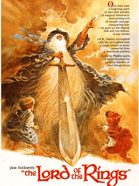 """Pôster da animação """"O Senhor dos Anéis"""" (1978) - Reprodução"""