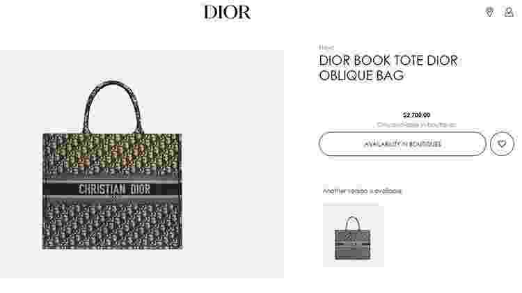 Bolsa Dior - Reprodução - Reprodução