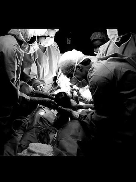 Luma Costa mostra registro do parto de Eduardo - Reprodução/Instagram