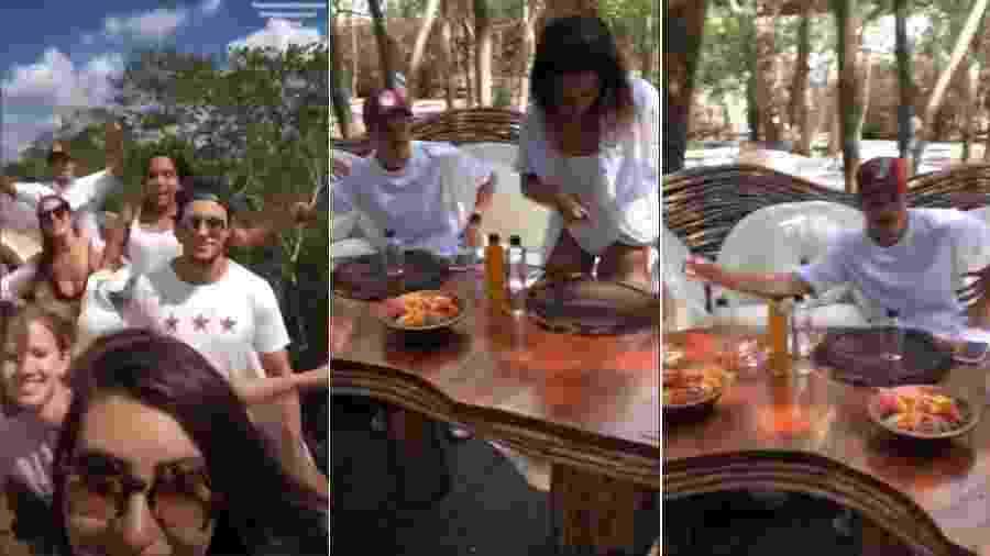 Ronan, namorado de Anitta, ao lado da cantora em viagem para Tulum, no México - Reprodução/Instagram