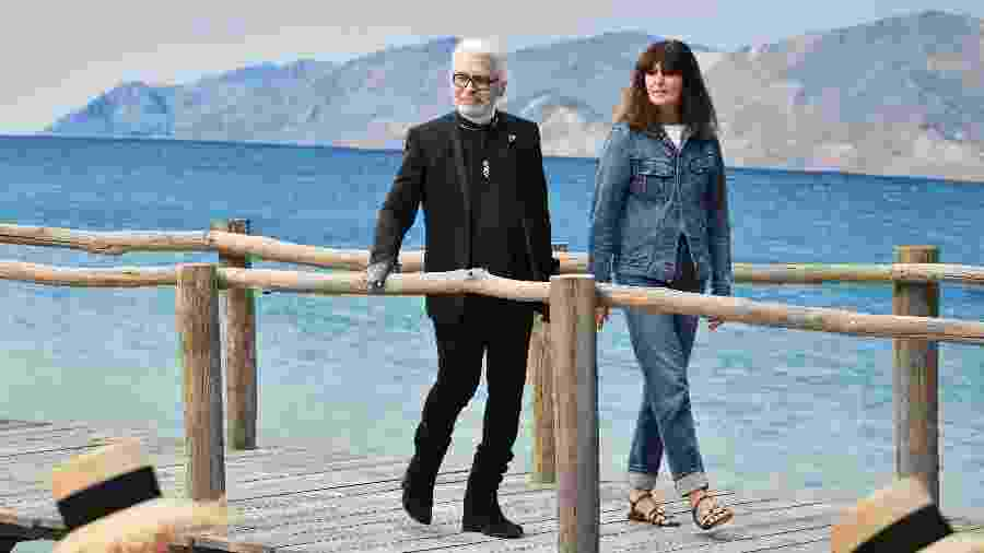 Karl Lagerfeld e Virginie Viard - Getty Images
