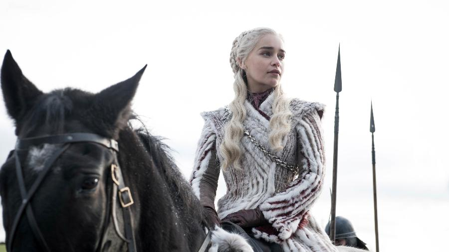 """Emilia Clarke como Daenerys em """"Game of Thrones"""": novo papel é na Marvel - Divulgação/HBO"""